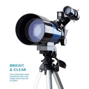 3 Aomekie Telescope for Kids Adults Astronomy Beginners 70mm