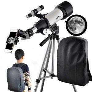 6 Telescope for Kids 70mm Apeture Travel Scope 400mm AZ Mount
