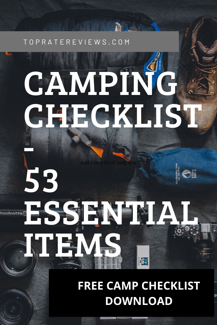 Complete Camping CheckList