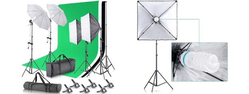 Neewer Umbrella Softbox Continuous Lighting Kit