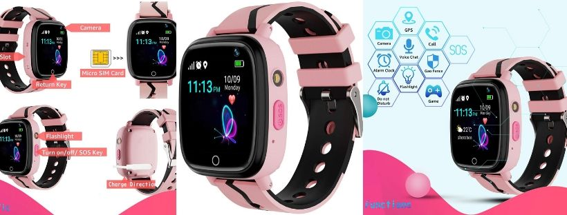 Karaforna Kids GPS Tracker Smart Watch