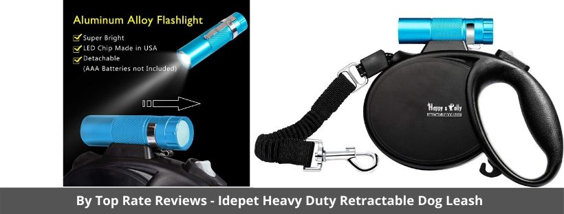 Happy and Polly Retractable Dog Leash with Flashlight