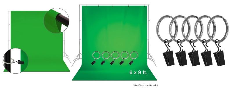 Emart Photo Studio 10 x 12ft Green Backdrop Screen