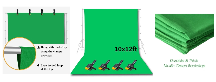 Emart Photo Studio Green Backdrop Screen
