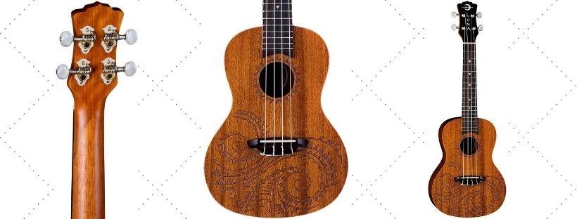 Luna tattoo concert mahogany ukulele