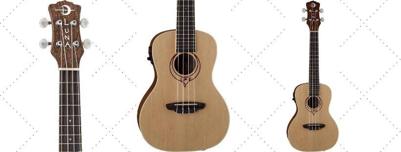 Luna Heartsong Spruce AcousticElectric Concert Ukulele