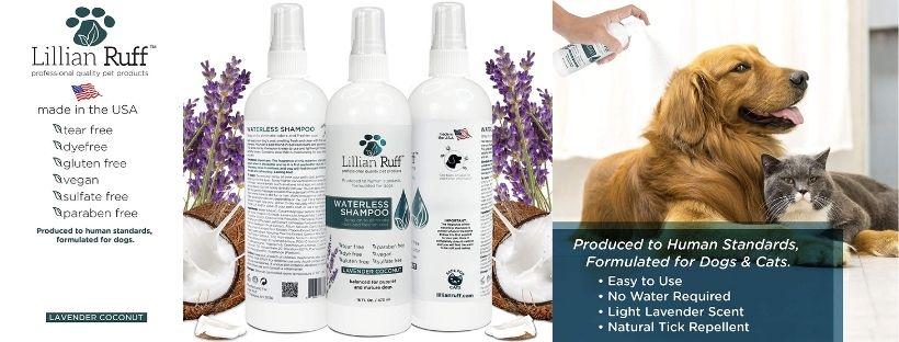 Lilian Ruff Waterless Dog Shampoo - No Rinse Quickly Dry Shampoo