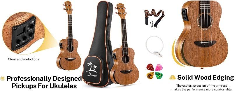 Donner Electro-Acoustic Ukulele -DUC-4E