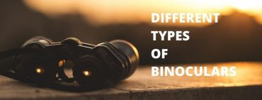 Different types of binoculars.