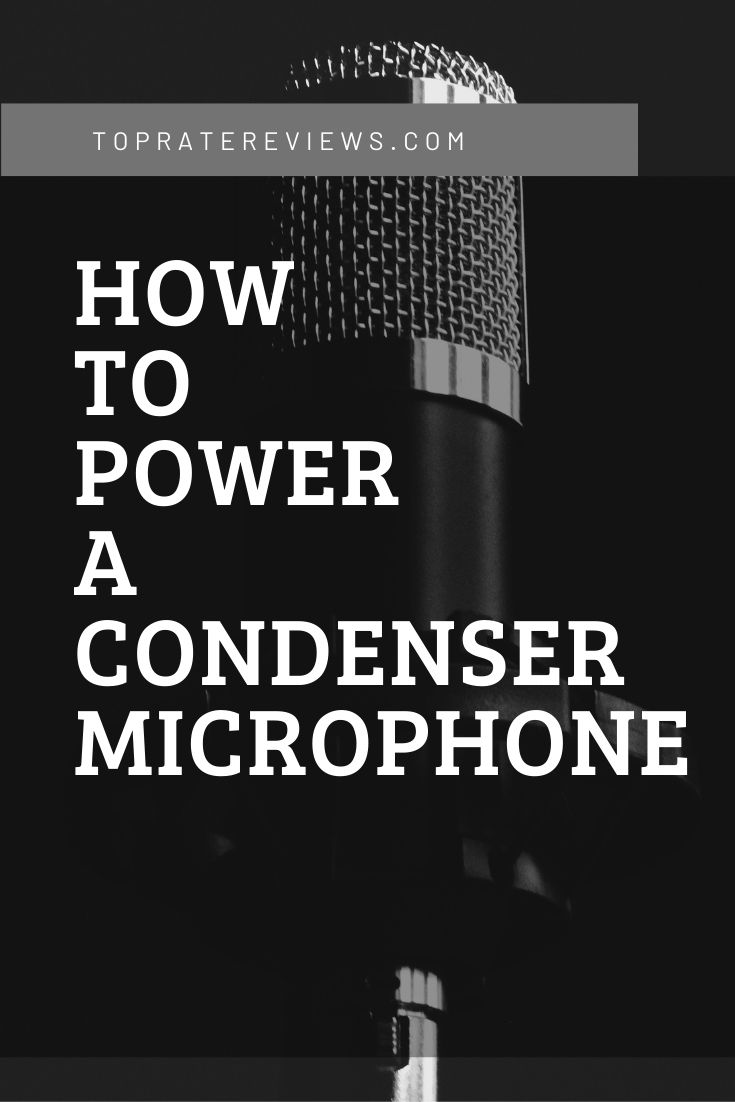 Power a condenser mic