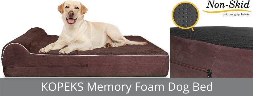 KOPEKS Memory Foam Dog Bed