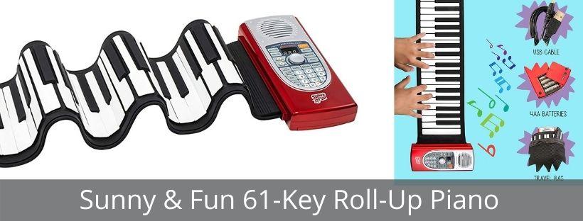 Sunny & Fun 61-Key Roll-Up Piano