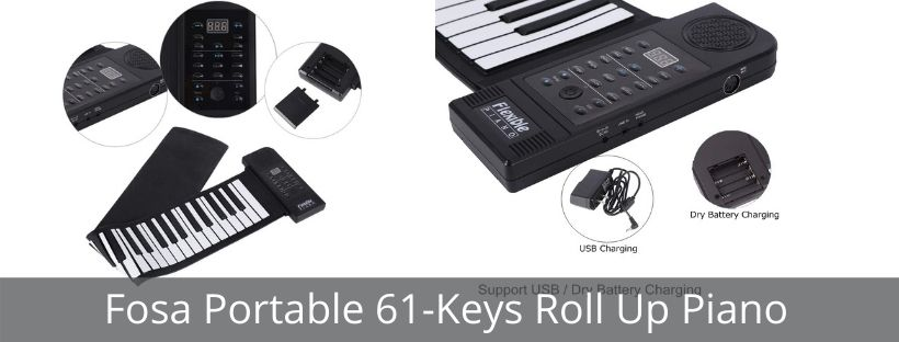 Fosa Portable 61-Keys Roll Up Piano