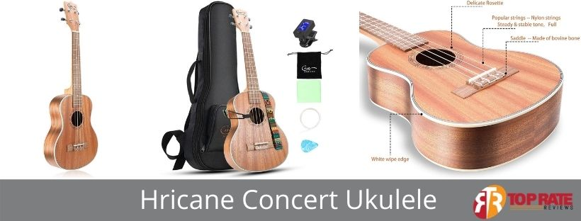 Hricane Concert Ukulele 23-Inch UKS-2