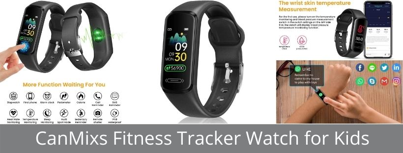 CanMixs Fitness Tracker Watch for Kids