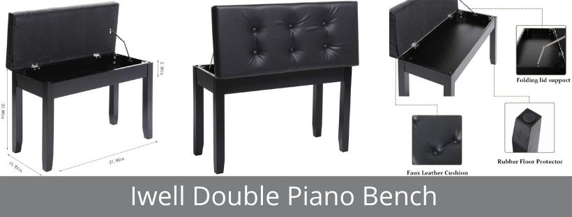 Iwell Double Piano Bench