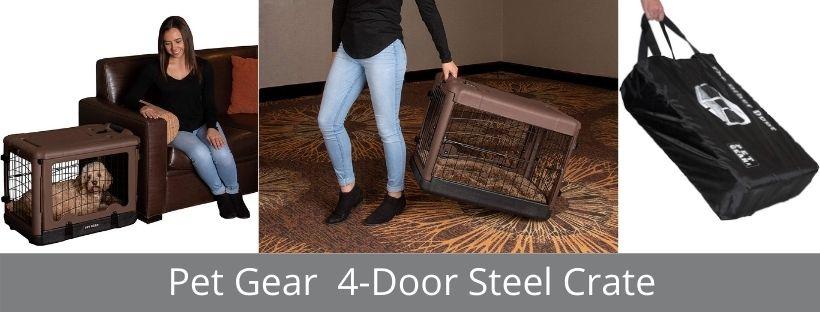 Pet Gear 4-Door Steel Crate