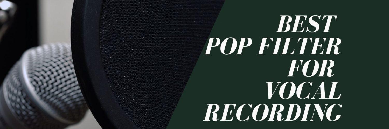 pop filter for microphones