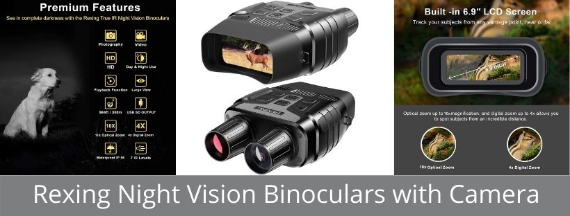 Rexing Night Vision Binoculars with Camera