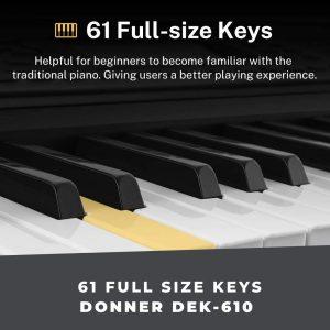 61 full size keys dek 610